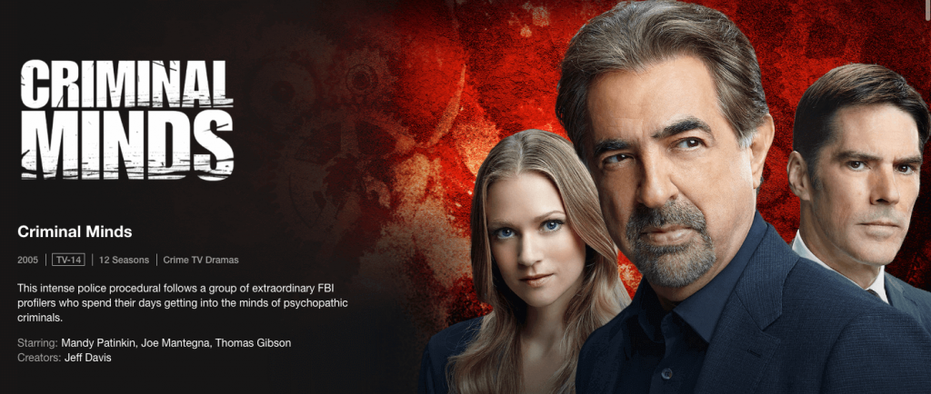 Watch Criminal Minds on US Netflix in Canada