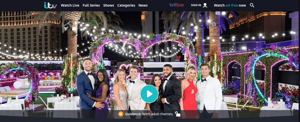 watching love island on ITV HUb in Canada with VPN