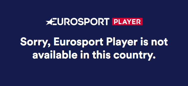 Eurosport geo-location error while trying to access in Canada without a VPN