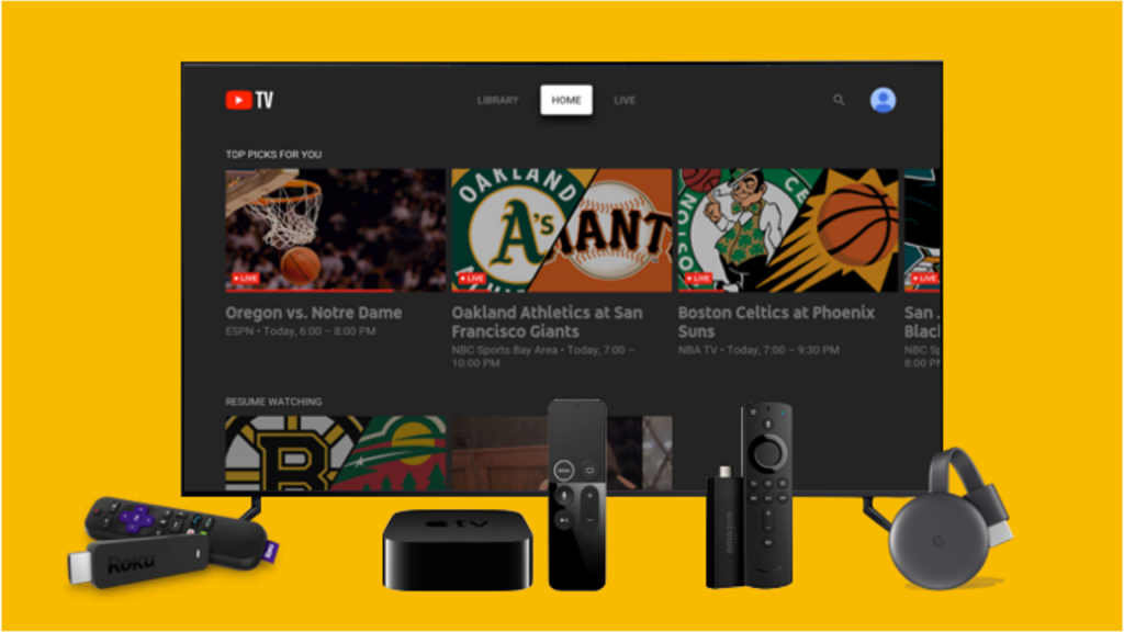 Youtube TV in Canada on Multiple Devices