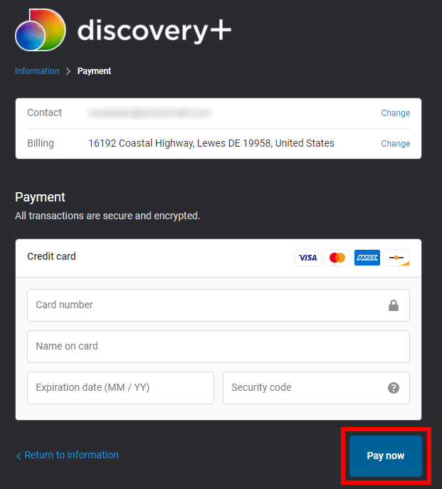 Discovery Plus sign up 3