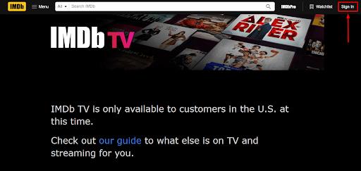 How to create IMDB account in Canada step 1