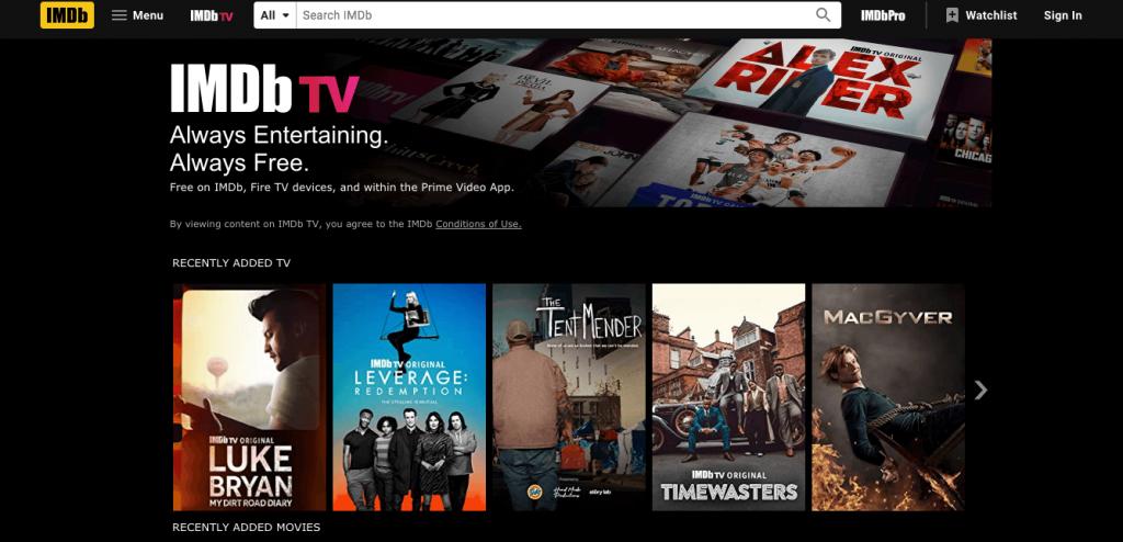 Watching IMDb TV in Canada via VPN