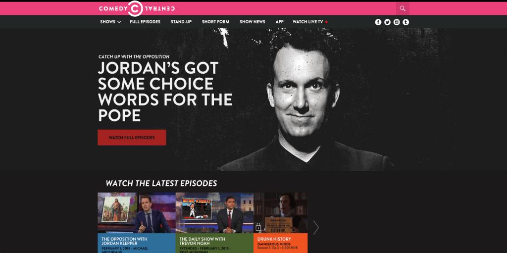 Watching Comedy Central in Canada via VPN