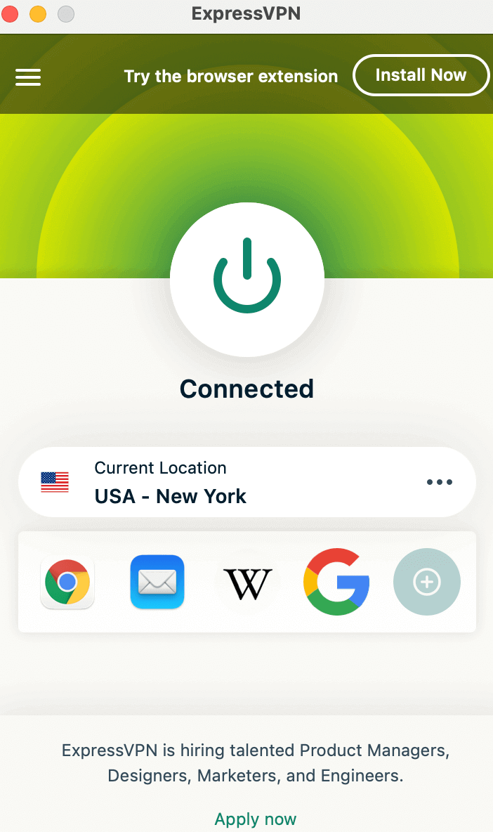 connect to us server via vpn