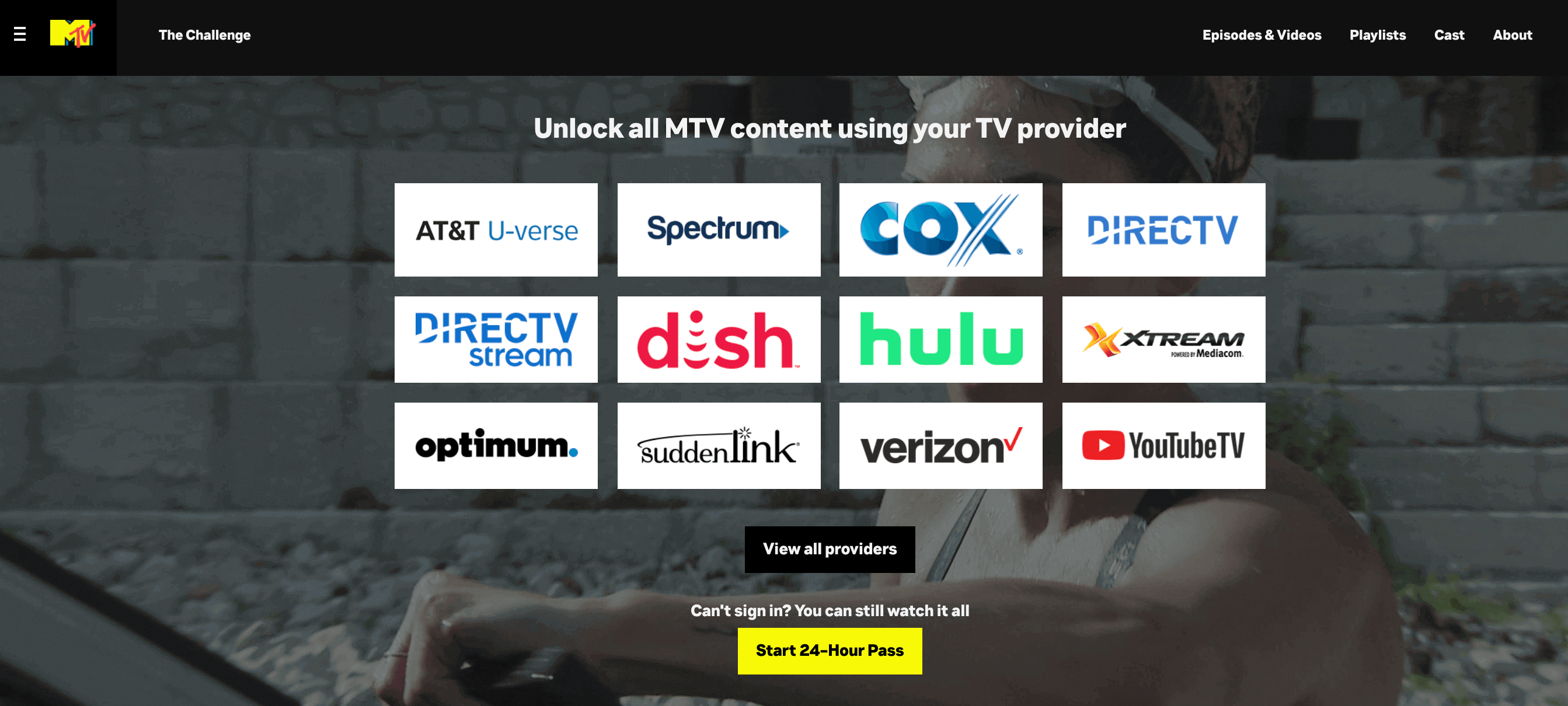 select your provider and start streaming  MTV USA in Canada