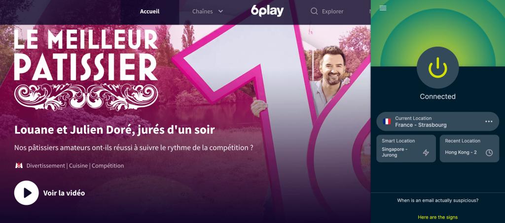 Watching 6Play in Canada via VPN